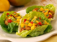 Mango chicken lettuce wrap