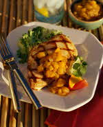 chicken with mango chutney