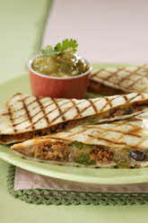 FAST-OFF-THE-GRILL CHORIZO QUESADILLAS