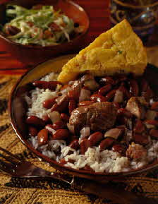NEW ORLEANS-STYLE RED BEANS & RICE WITH FRESH HAM HOCKS