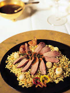 WHITE PEKIN DUCKLING BREAST WITH FIGS AND GRAND MARNIER