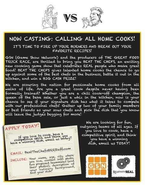 Beat the Chefs Casting Call