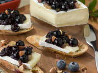 Blueberry Brie Crostini