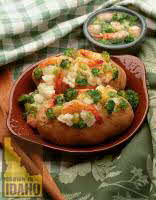 Broccoli Shrimp Stuffed Potatoes
