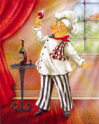 Chef with Wine