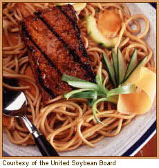 CHINESE BARBECUED TOFU WITH SESAME NOODLES