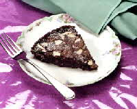 chocolate almond pudding cake