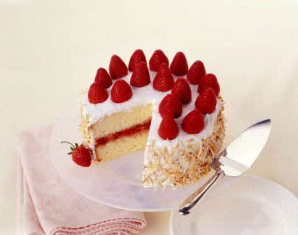 Preserving Strawberries Cake Coconut Strawberry Cake