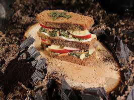 Vegetarian Coffin Sandwiches with Walnut Pesto
