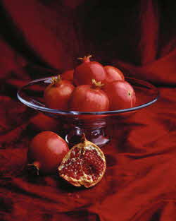 pomegranate fruit bowl