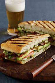 Grilled Bacon & Buffalo Mozzarella Sandwiches
