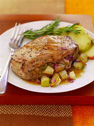 honey rosemary pork chop