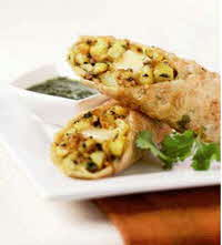 indian potato spring rolls