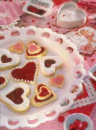 JEWELED HEART COOKIES