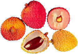 Litchi nuts whole and split