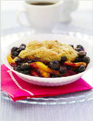 mango blueberry cobbler