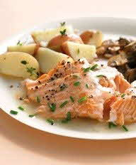 Salmon with Hot Sweet Mustard