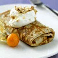 Apricot Walnut Crepes