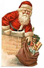 Santa Claus at Chimney