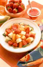 Fruit Salad With 3 Dressings
