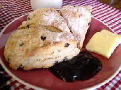 sugar crusted currant scones