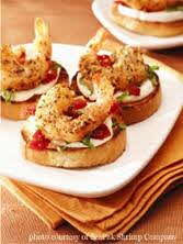 shrimp goat cheese crostinis