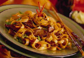 SPICY BARBECUE WHITE PEKIN DUCKLING LO MEIN