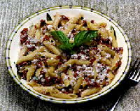 sun dried tomato & walnuts with penne