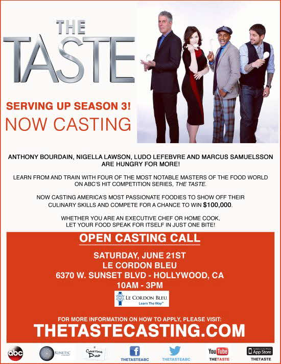 Casting call for 'The Taste'