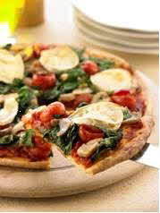 Vegetarian Spinach Pizza