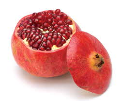 pomegranate with cut top